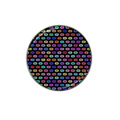 Colorful Round Corner Rectangles Pattern Hat Clip Ball Marker by LalyLauraFLM