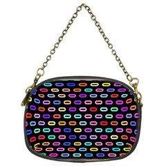 Colorful Round Corner Rectangles Pattern Chain Purse (two Sides) by LalyLauraFLM