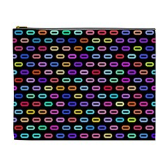Colorful Round Corner Rectangles Pattern Cosmetic Bag (xl) by LalyLauraFLM