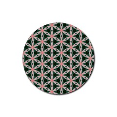 Cute Pretty Elegant Pattern Rubber Coaster (round)  by creativemom