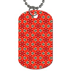 Lovely Orange Trendy Pattern  Dog Tag (two Sides)