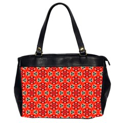 Lovely Orange Trendy Pattern  Office Handbags (2 Sides)  by creativemom