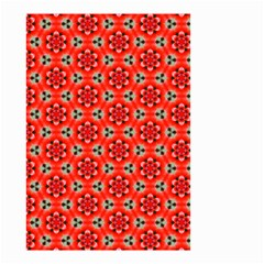 Lovely Orange Trendy Pattern  Small Garden Flag (two Sides) by creativemom