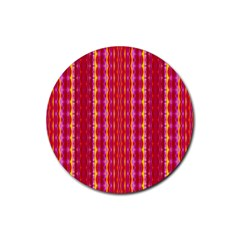 Cute Pretty Elegant Pattern Rubber Round Coaster (4 Pack)  by creativemom