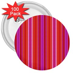 Orange Tribal Aztec Pattern 3  Buttons (100 Pack)  by creativemom