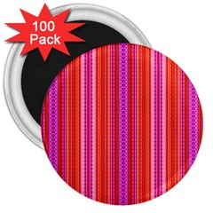 Orange Tribal Aztec Pattern 3  Magnets (100 Pack) by creativemom