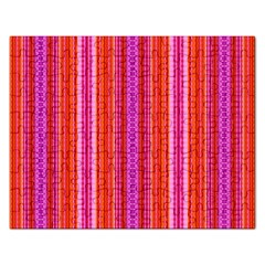 Orange Tribal Aztec Pattern Rectangular Jigsaw Puzzl by creativemom