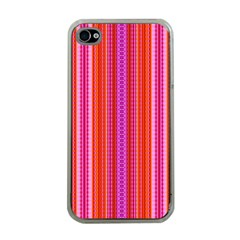 Orange Tribal Aztec Pattern Apple Iphone 4 Case (clear) by creativemom