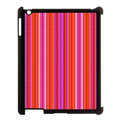 Orange Tribal Aztec Pattern Apple Ipad 3/4 Case (black)