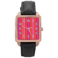 Orange Tribal Aztec Pattern Rose Gold Watches by creativemom