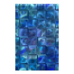 Blue Squares Tiles Shower Curtain 48  X 72  (small)  by KirstenStar