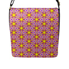 Cute Pretty Elegant Pattern Flap Messenger Bag (l)  by creativemom