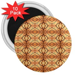 Faux Animal Print Pattern 3  Magnets (10 Pack)  by creativemom