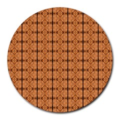 Faux Animal Print Pattern Round Mousepads by creativemom