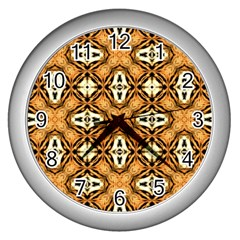 Faux Animal Print Pattern Wall Clocks (silver)