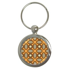 Faux Animal Print Pattern Key Chains (round)