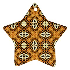 Faux Animal Print Pattern Star Ornament (two Sides)