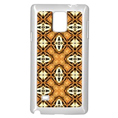 Faux Animal Print Pattern Samsung Galaxy Note 4 Case (white)