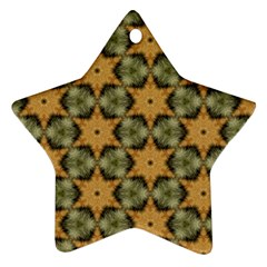 Faux Animal Print Pattern Ornament (star)  by creativemom