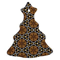 Faux Animal Print Pattern Christmas Tree Ornament (2 Sides) by creativemom