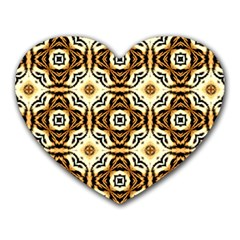 Faux Animal Print Pattern Heart Mousepads