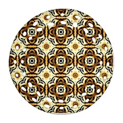 Faux Animal Print Pattern Ornament (round Filigree)  by creativemom