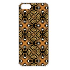 Faux Animal Print Pattern Apple Iphone 5 Seamless Case (white)