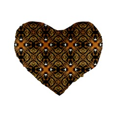 Faux Animal Print Pattern Standard 16  Premium Flano Heart Shape Cushions by creativemom