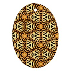 Faux Animal Print Pattern Ornament (oval)  by creativemom