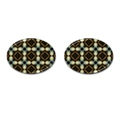 Faux Animal Print Pattern Cufflinks (oval)