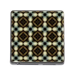 Faux Animal Print Pattern Memory Card Reader (square) by creativemom