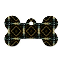 Faux Animal Print Pattern Dog Tag Bone (one Side) by creativemom
