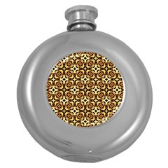 Faux Animal Print Pattern Round Hip Flask (5 Oz) by creativemom