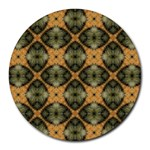 Faux Animal Print Pattern Round Mousepads Front