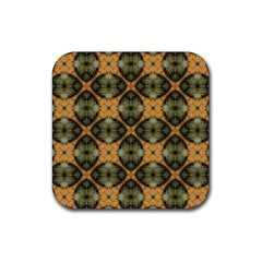 Faux Animal Print Pattern Rubber Coaster (square)