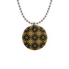 Faux Animal Print Pattern Button Necklaces