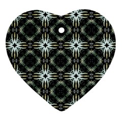 Faux Animal Print Pattern Ornament (heart)  by creativemom