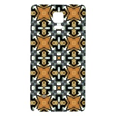 Faux Animal Print Pattern Galaxy Note 4 Back Case by creativemom