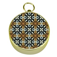 Faux Animal Print Pattern Gold Compasses by creativemom