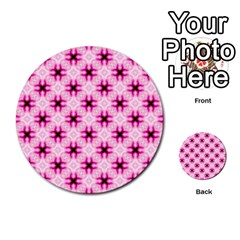 Cute Pretty Elegant Pattern Multi Purpose Cards (round)  by creativemom