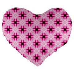 Cute Pretty Elegant Pattern Large 19  Premium Heart Shape Cushions by creativemom