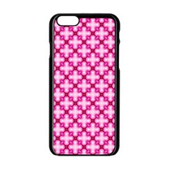 Cute Pretty Elegant Pattern Apple Iphone 6 Black Enamel Case by creativemom