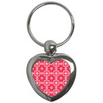 Cute Pretty Elegant Pattern Key Chains (Heart)  Front