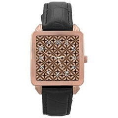 Cute Pretty Elegant Pattern Rose Gold Watches