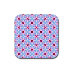 Cute Pretty Elegant Pattern Rubber Square Coaster (4 Pack)