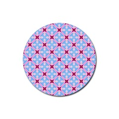 Cute Pretty Elegant Pattern Rubber Round Coaster (4 Pack)