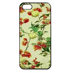 Vintage Style Floral Design Apple Iphone 5 Seamless Case (black) by dflcprints