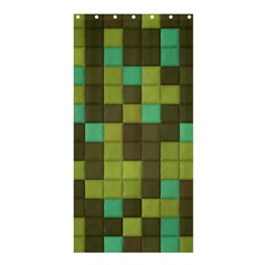 Green Tiles Pattern	shower Curtain 36  X 72  by LalyLauraFLM