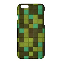 Green Tiles Pattern	apple Iphone 6 Plus Hardshell Case by LalyLauraFLM