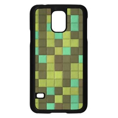 Green Tiles Pattern	samsung Galaxy S5 Case by LalyLauraFLM